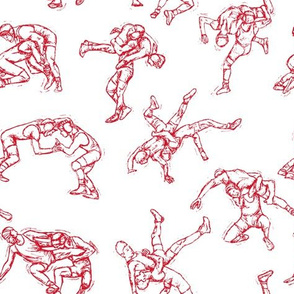 Wrestling Red Sketch