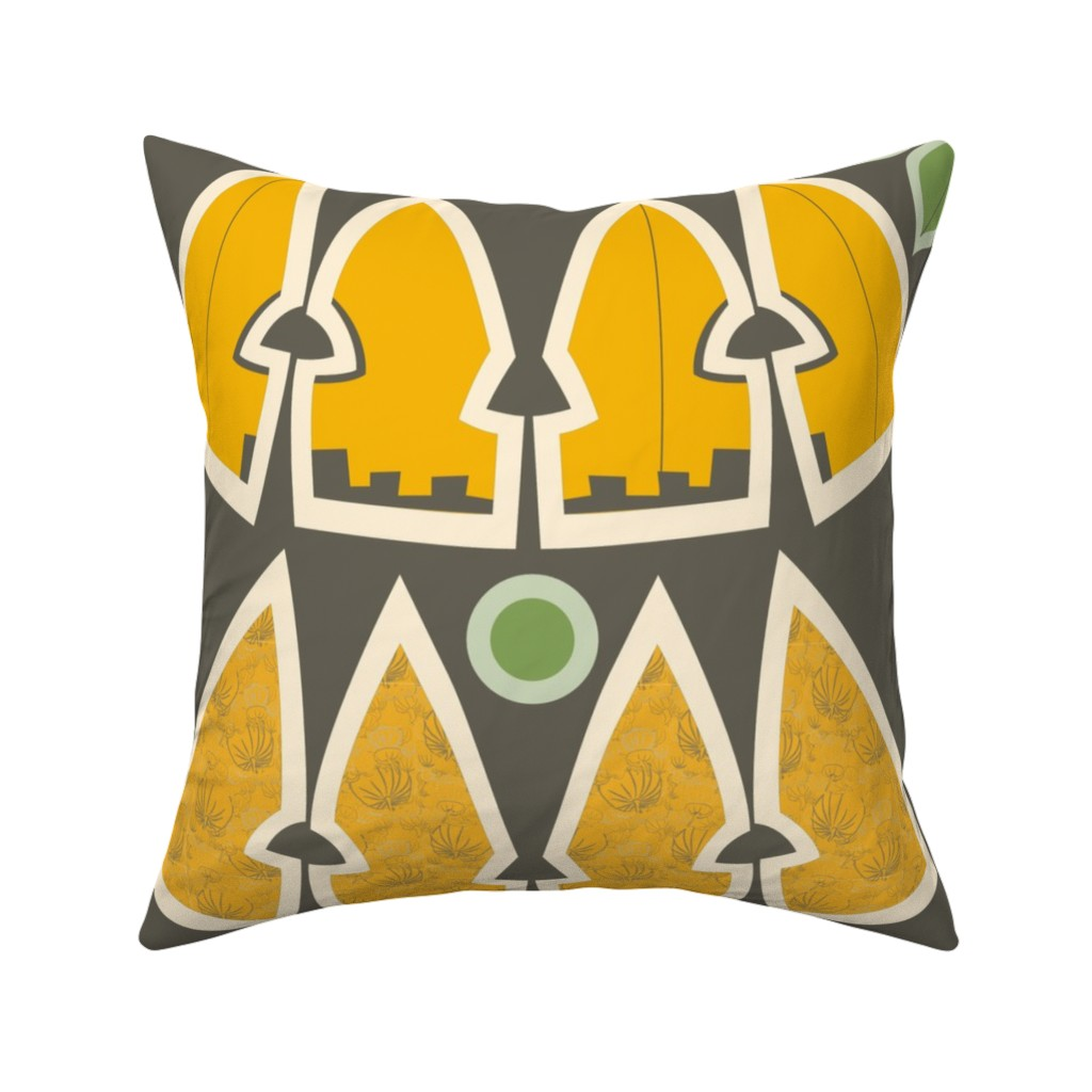 Catalan Throw Pillow featuring Jack'o'Lantern plushie hat-mask kit (with treat bag) by majobv