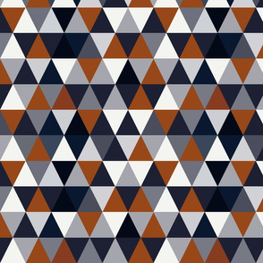 Navy and Rust Triangles