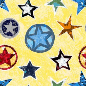 Super Stars on Yellow Superhero