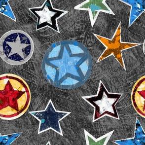 Super Stars on Black Superhero