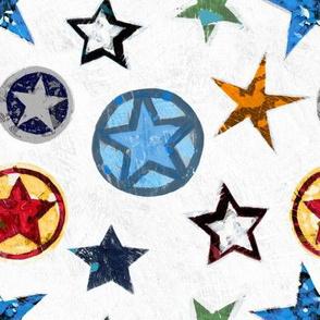 Super Stars on White Superhero