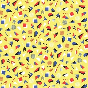 80's geometric on yellow