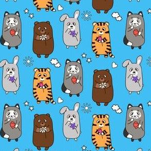 smiling cartoon animals