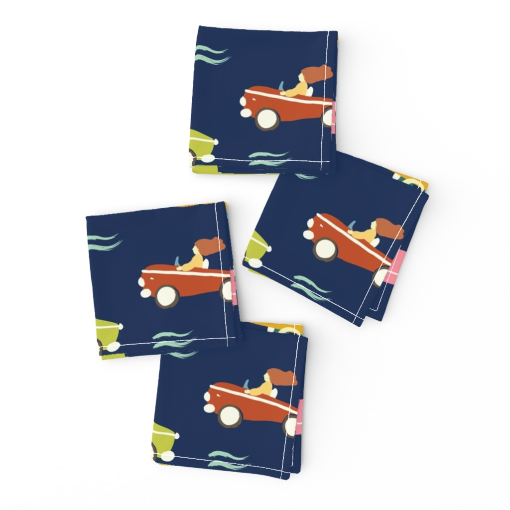 Frizzle Cocktail Napkins featuring cars by exotic_vector