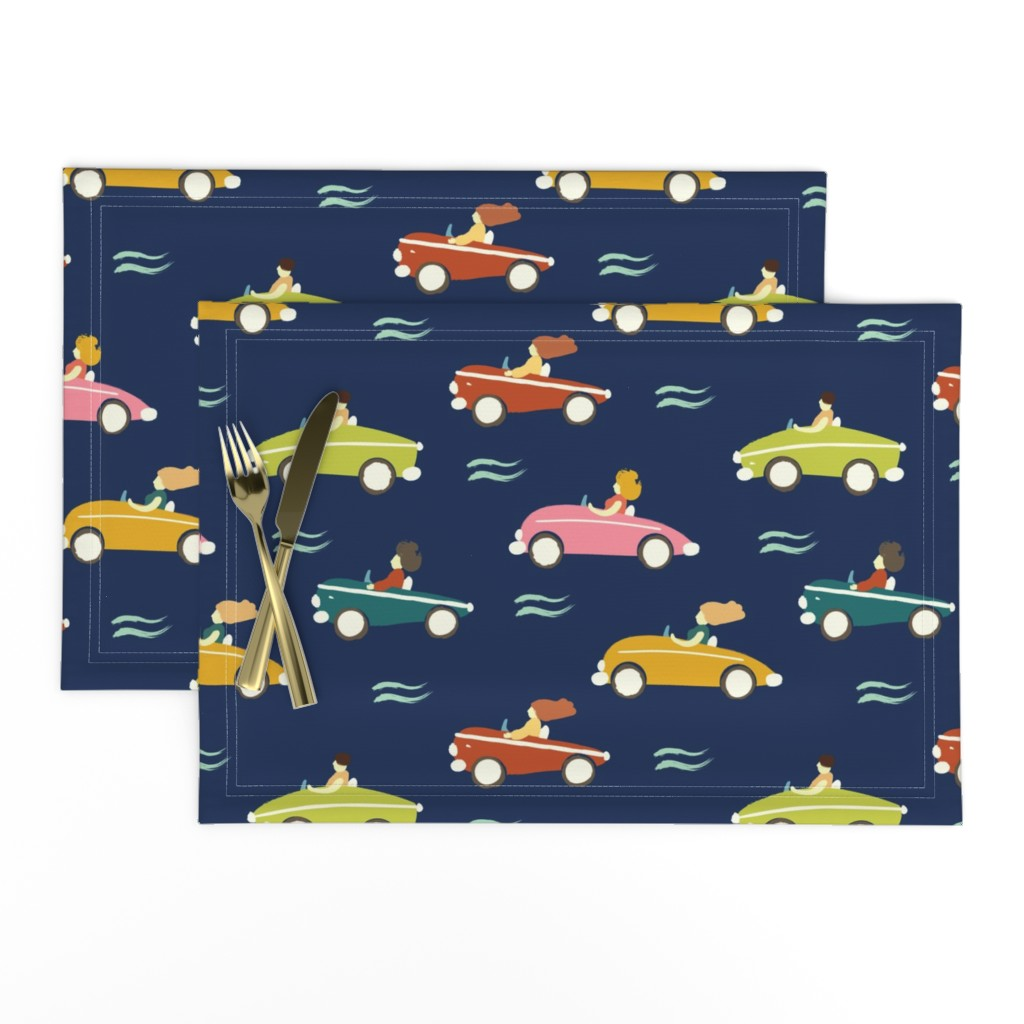 Lamona Cloth Placemats featuring cars by exotic_vector