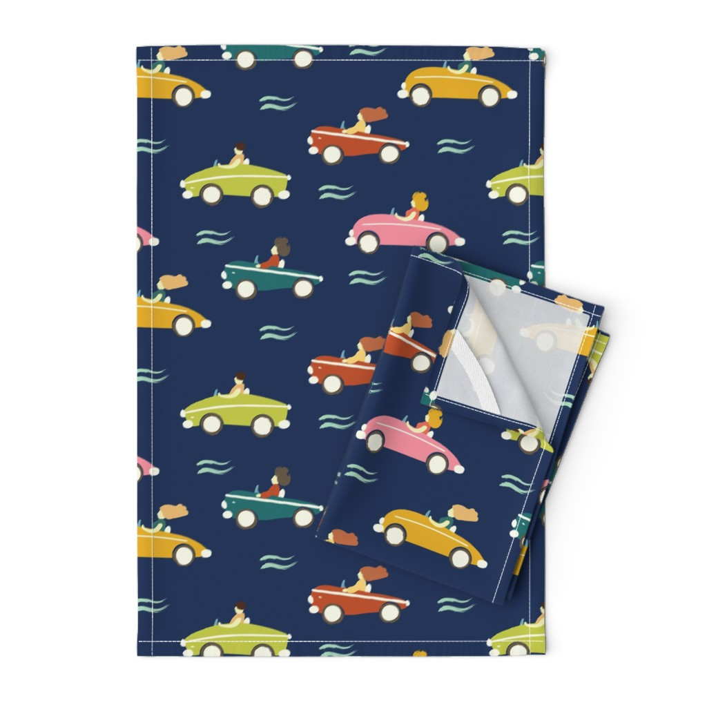 Orpington Tea Towels featuring cars by exotic_vector
