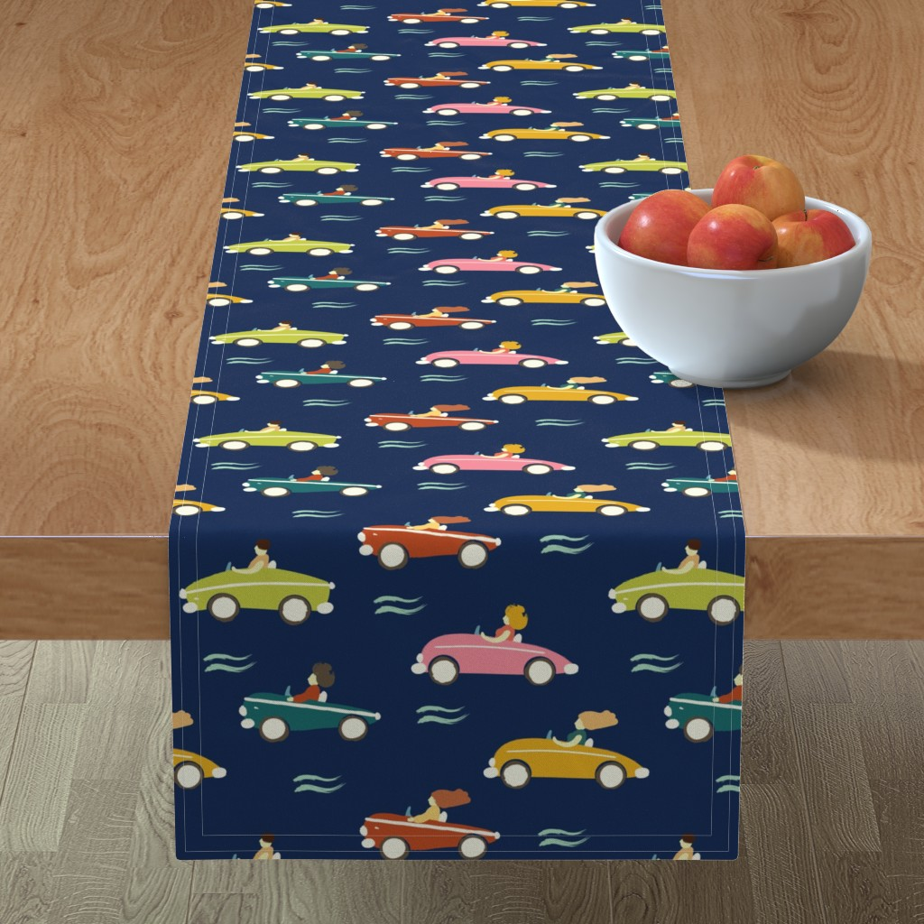 Minorca Table Runner featuring cars by exotic_vector
