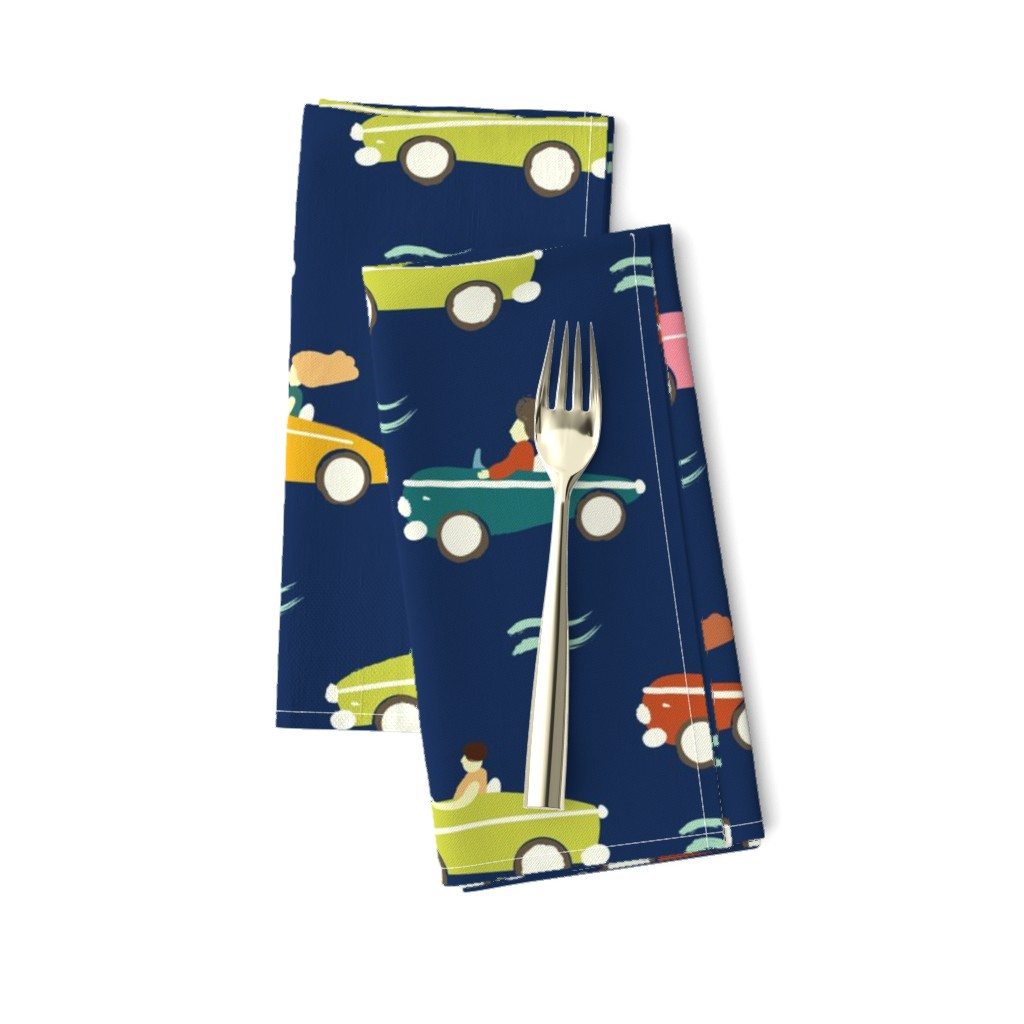 Amarela Dinner Napkins featuring cars by exotic_vector