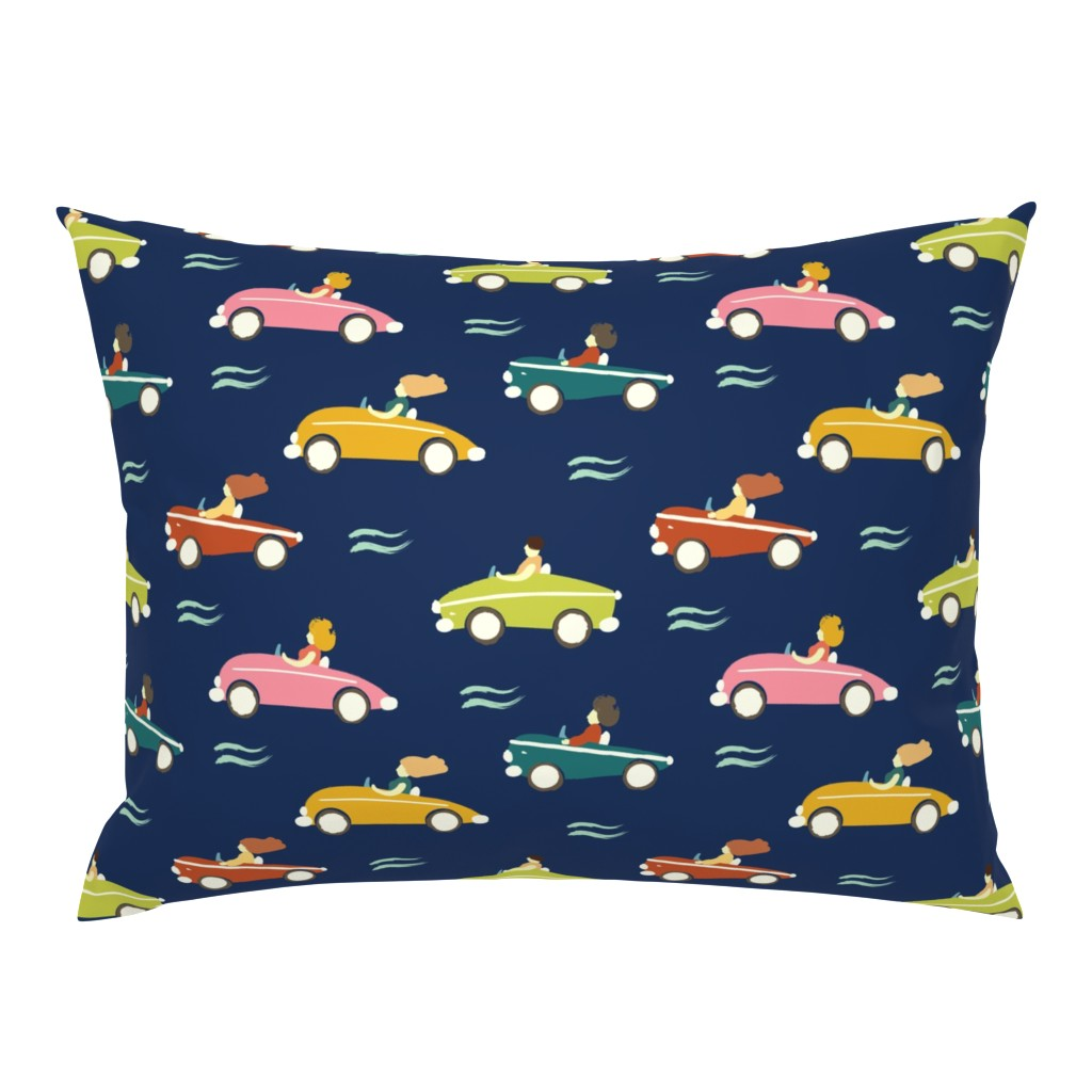 Campine Pillow Sham featuring cars by exotic_vector