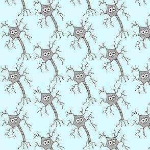 Cute Neuron - on light blue