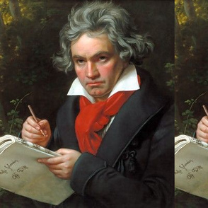 Ludwig van Beethoven famous portraits music musician German composer pianist classical romantic musical sheets 18th century 19 century victorian baroque historical