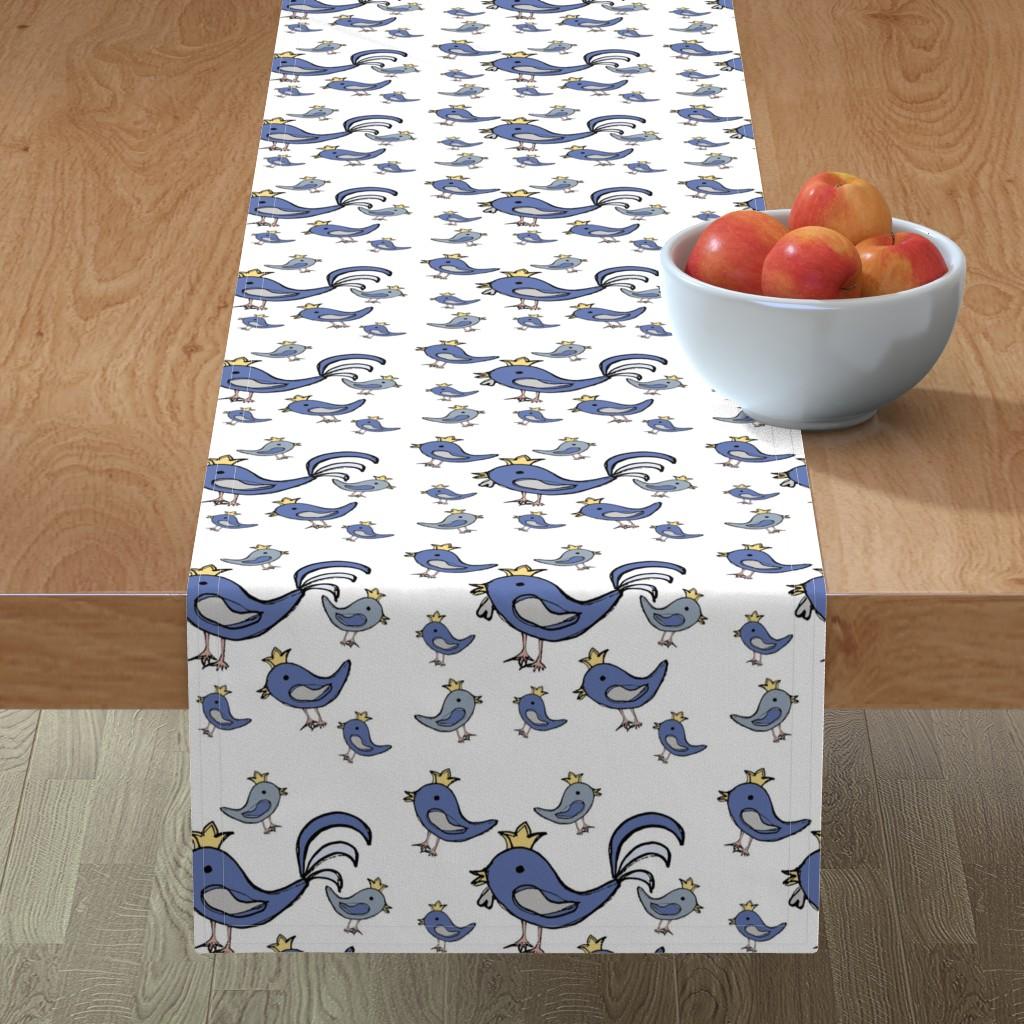 Minorca Table Runner featuring Huehnerglueck_blue by grapheum