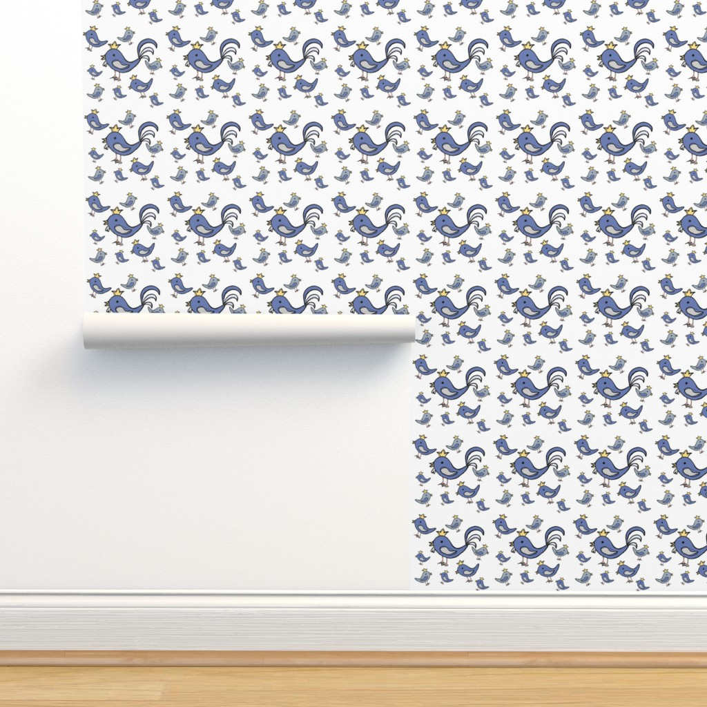 Isobar Durable Wallpaper featuring Huehnerglueck_blue by grapheum