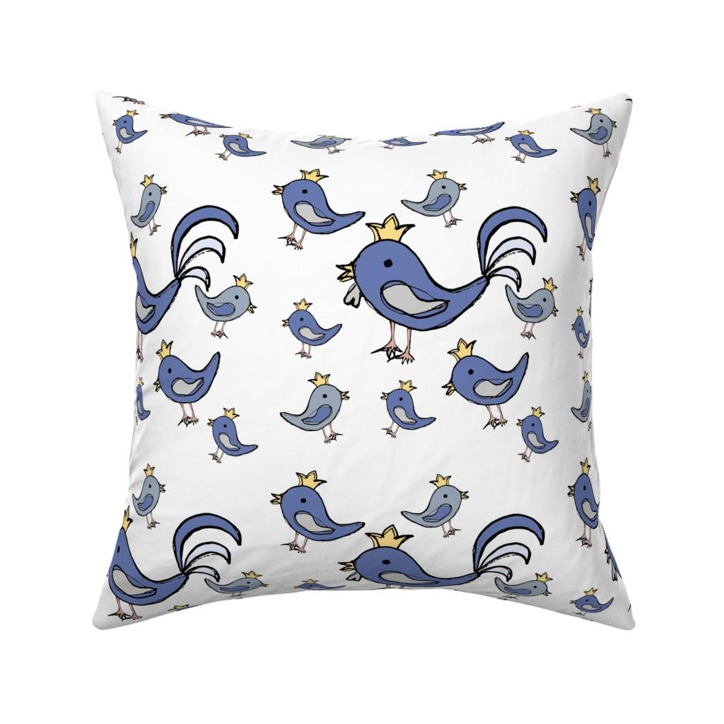 Catalan Throw Pillow featuring Huehnerglueck_blue by grapheum
