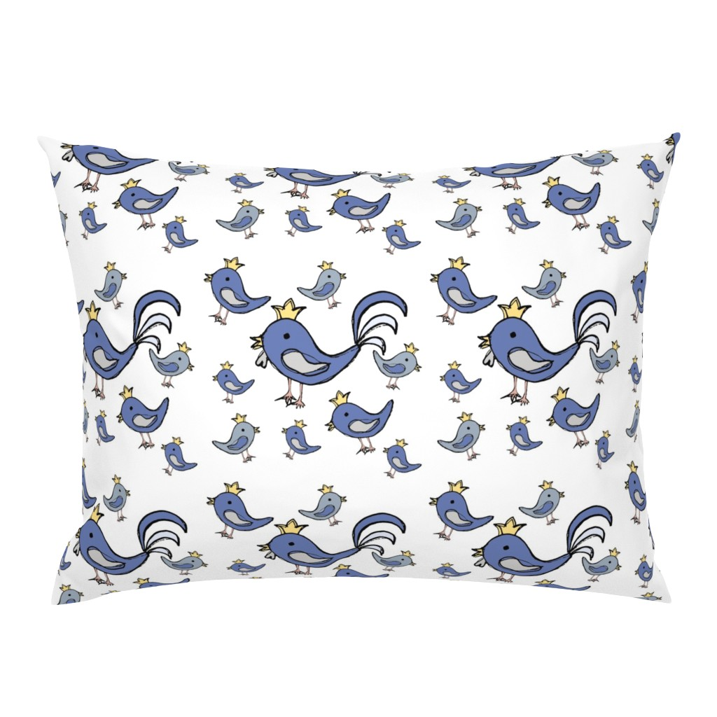 Campine Pillow Sham featuring Huehnerglueck_blue by grapheum