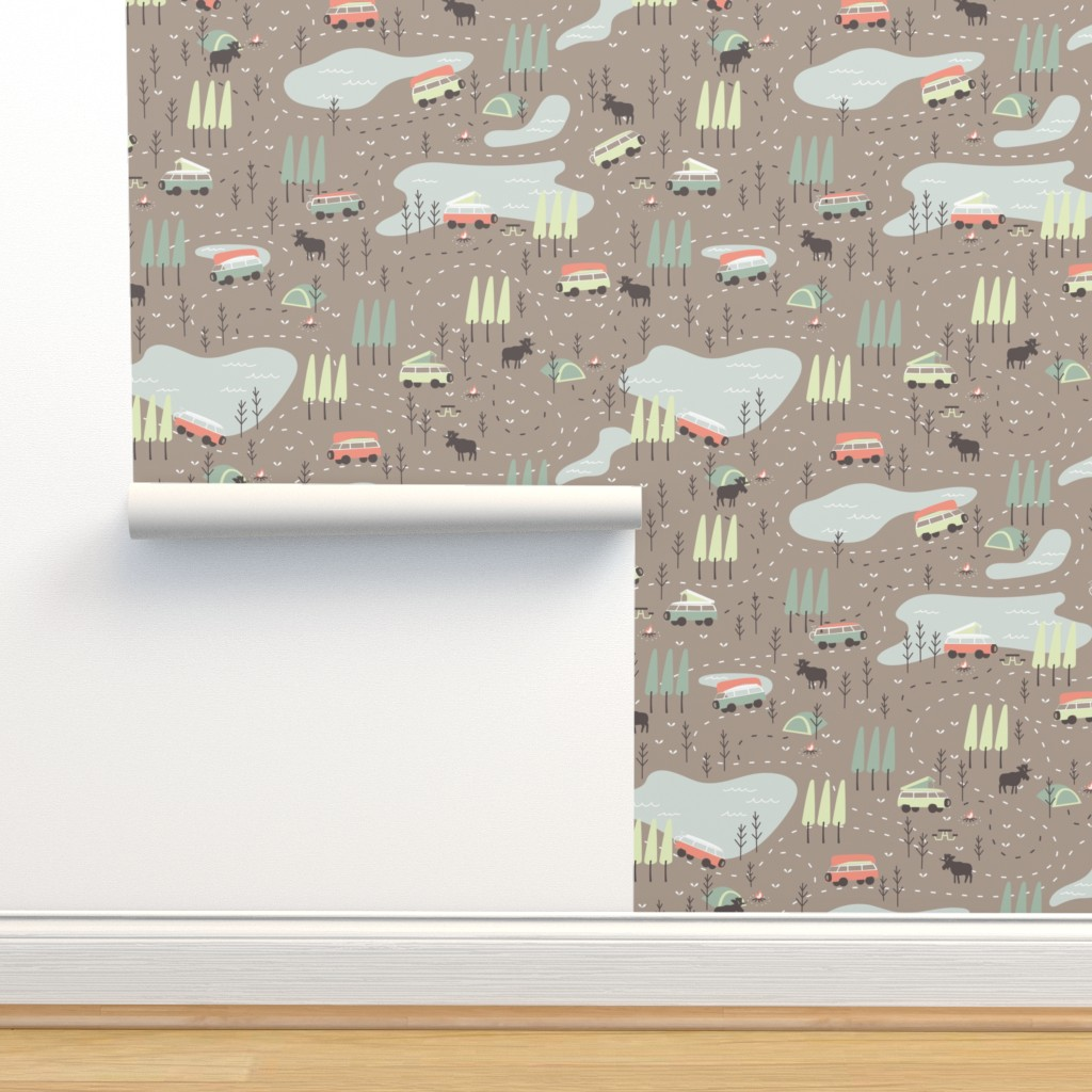 Isobar Durable Wallpaper featuring Into the Wild by papercanoefabricshop