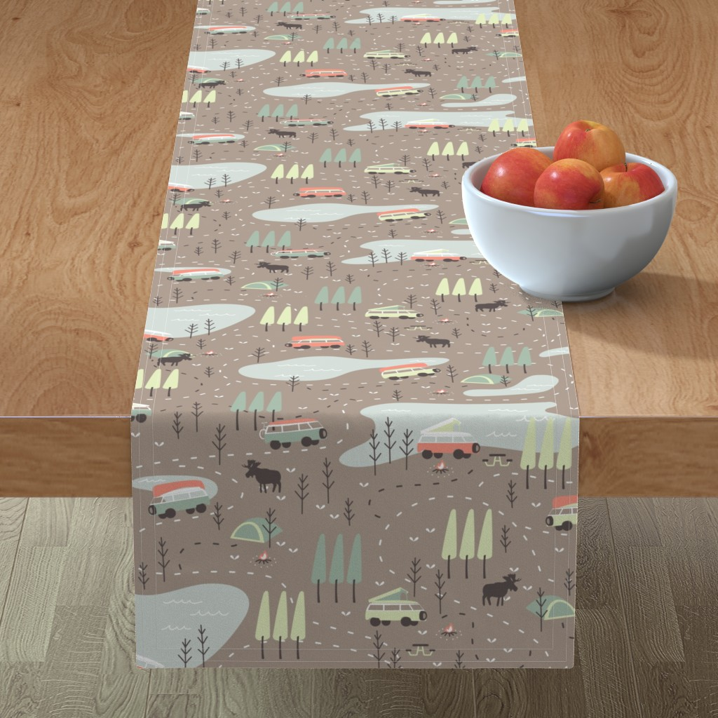 Minorca Table Runner featuring Into the Wild by papercanoefabricshop