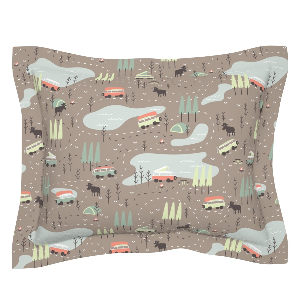 Sebright Pillow Sham featuring Into the Wild by papercanoefabricshop