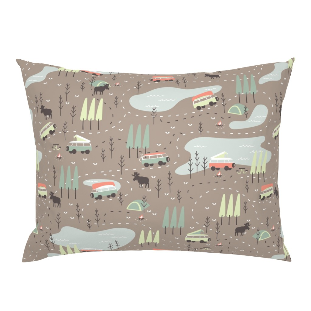 Campine Pillow Sham featuring Into the Wild by papercanoefabricshop