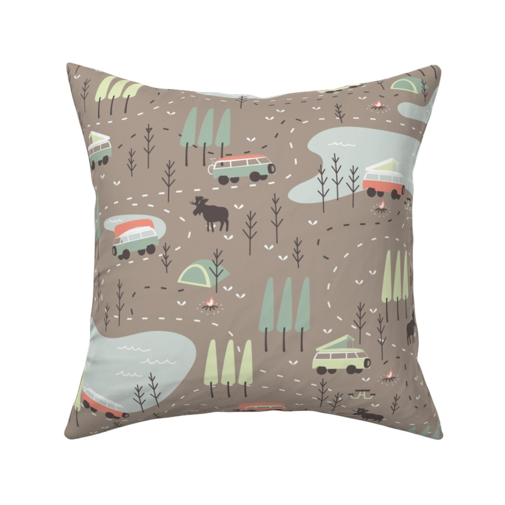 Catalan Throw Pillow featuring Into the Wild by papercanoefabricshop