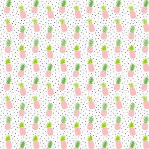 tiny pineapples plus crosses + pink :: fruity fun
