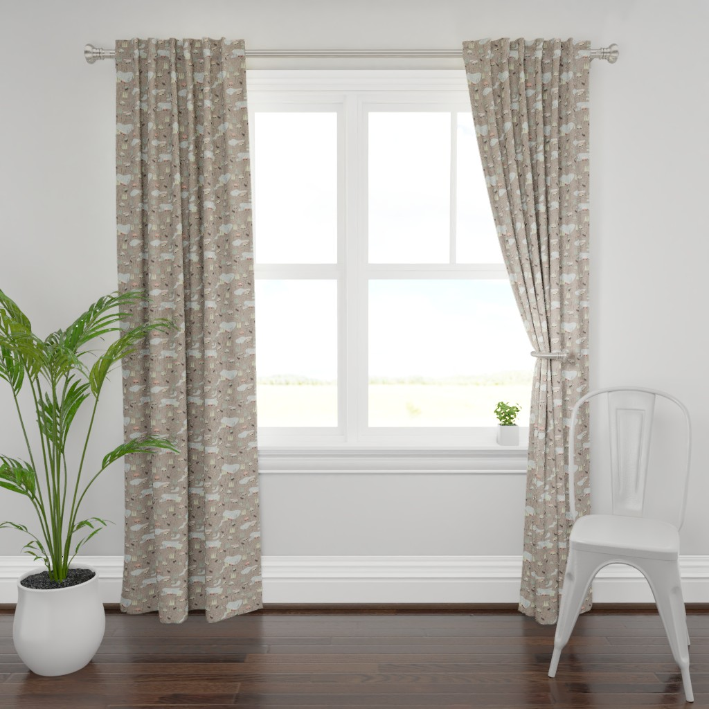 Plymouth Curtain Panel featuring Into the Wild - Extra Small Scale by papercanoefabricshop