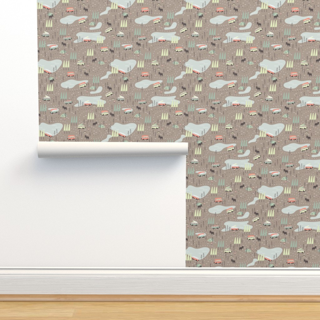 Isobar Durable Wallpaper featuring Into the Wild - Extra Small Scale by papercanoefabricshop