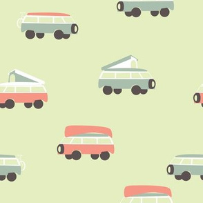 Camper - Mint background