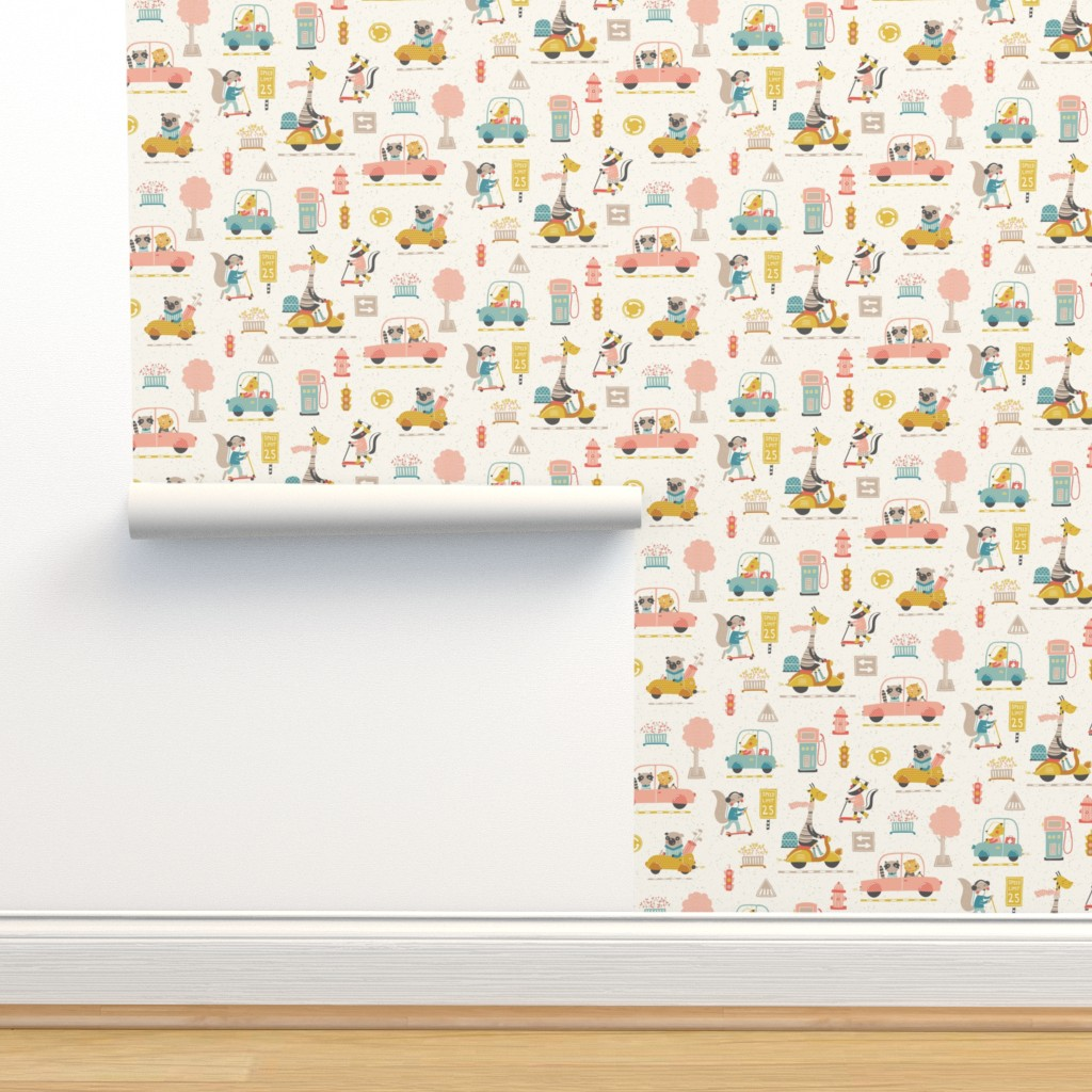Isobar Durable Wallpaper featuring City traffic by martamunte
