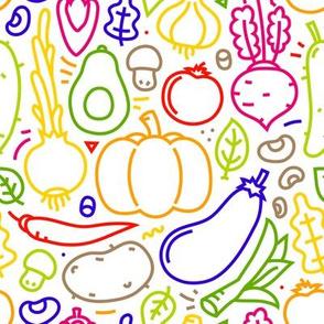 Veggies outline