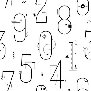 Numbers geometric pattern