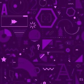 Geometry abstract pattern / purple
