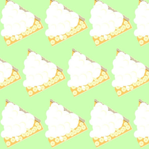 Banana Cream Pie Slice-green
