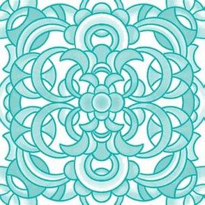 Circle Medallion - Turquoise Blue