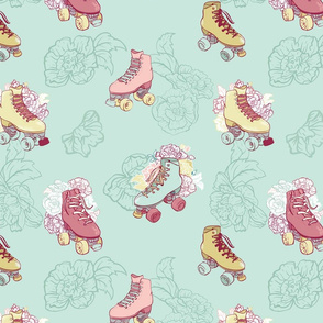 Roller Skates with Roses