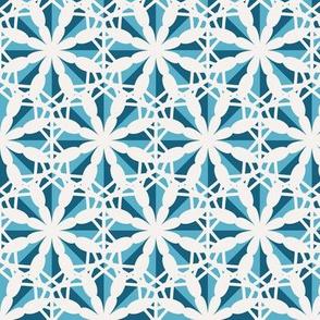 Mosaic Hexagonal Asian Pattern