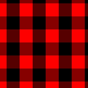 Classic Red and Black Buffalo Check Plaid Tartan