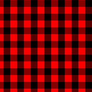 Mini Red and Black Buffalo Check Plaid Tartan