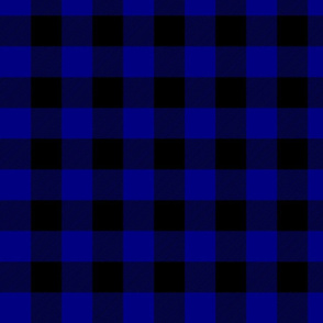 Navy Blue Buffalo Check Tartan Plaid Blue and Black