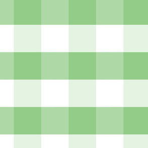 Greenery and White Gingham Check Plaid