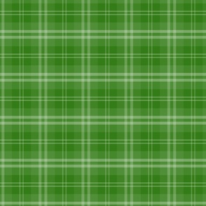 Irish Shamrock Green Tartan Check Check Pattern