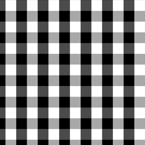 Small Black White Gingham Checked Square Pattern
