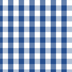 Delphinium Blue Mini Gingham Check Plaid