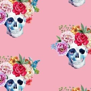 """4"""" COLORFUL SKULL PINK"""