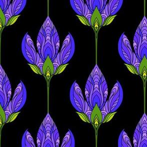 Night purple flowers