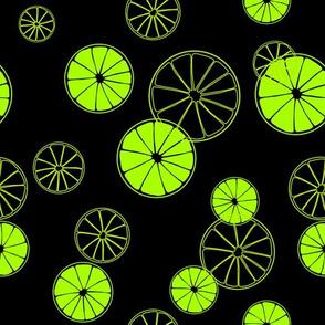 Lime print.