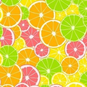 Four citrus fruits.