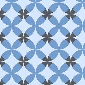Blue rhombuses.