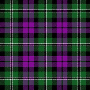 "Wilson's tartan #175, 3"" purple/green"